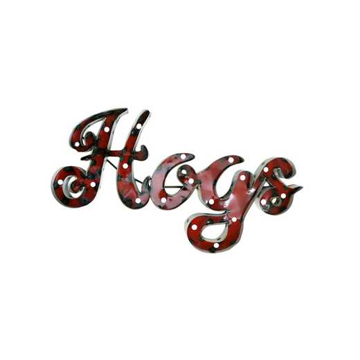 HOGSWDLGT: LRT AR Hogs Metal Décor Lighted